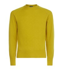 Tom Ford Dense Wool Sweater Male Mustard