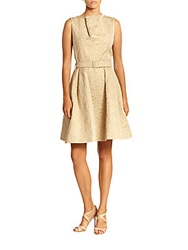 Pauw Jacquard Belted Dress Ivory