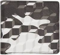 Pierre Hardy Black And White Camouflage Cube Wallet