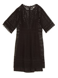 Rebecca Taylor Floral Lace Crochet Dress