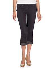 True Religion Rolled Cropped Jeans Black