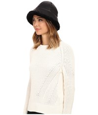 Ugg Lorien Cloche With Shearling Trim 14 Black Multi Traditional Hats
