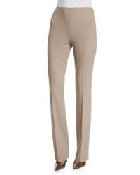 Ralph Lauren Wool Crepe Side Zip Pants Truffle