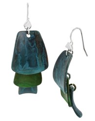 Robert Lee Morris Patina Layered Petal Drop Earrings