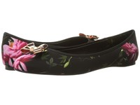 Ted Baker Imme 2 Citrus Bloom Satin Women's Flat Shoes Multi