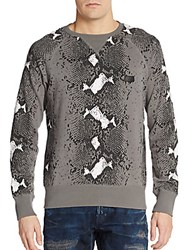 Prps Snake Print Sweater Cool Grey