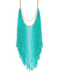 Theodora And Callum Beaded Statement Necklace Turquoise
