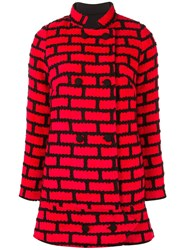 Ultrachic Double Breasted Coat Red
