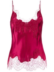 Carine Gilson Lave V Neck Camisole Red