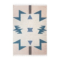 Ferm Living Kelim Blue Triangles Rug Large