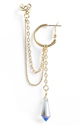 Topshop 'Chain And Drop' Ear Cuff Gold Multi