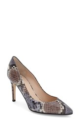 Aquatalia By Marvin K Women's Aquatalia 'Harlee' Weatherproof Pointy Toe Pump Brown Snake Print