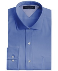Tommy Hilfiger Big And Tall Easy Care Empire Blue Solid Dress Shirt