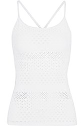 L'etoile Sport Perforated Stretch Lace Tennis Top White