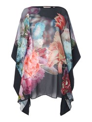 Ted Baker Alexii Focus Bouquet Cover Up Navy