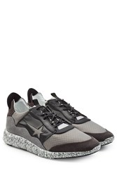 Golden Goose Mesh And Leather Haus Edge Sneakers Silver