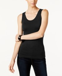 Inc International Concepts Ribbed Tank Top Only At Macy's Deep Black