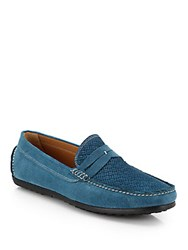Saks Fifth Avenue Textured Suede Drivers Ardes
