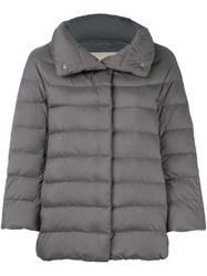 Herno Quilted Puffer Jacket Grey