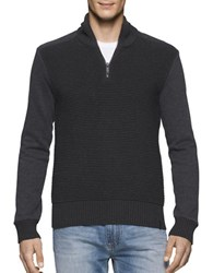 Calvin Klein Jeans Ottoman Tube Terry Sweater Dark Charcoal