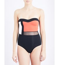 Jets By Jessika Allen Electrify Strapless Swimsuit Black Flame