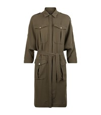 Set Utility Shirt Dress Female Khaki