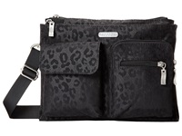 Baggallini Everything Bagg Black Cheetah Cross Body Handbags