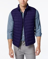 Weatherproof 32 Degrees Packable Down Vest Copen Navy Melange