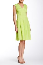 Anne Klein Sheer Novelty Degas Dress Green