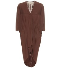 Rick Owens Macassar Batwing Top Brown