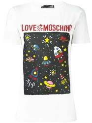 Love Moschino 'St. Spazio' T Shirt White