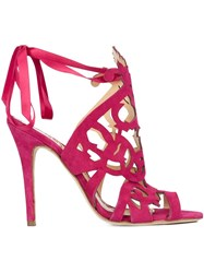 Marchesa 'Jessica' Sandals Pink And Purple