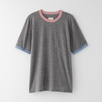 Band Of Outsiders Contrast Ringer Tee Heather Grey