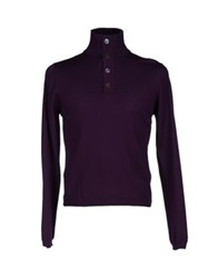Alpha Massimo Rebecchi Turtlenecks Dark Purple