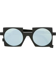 Vava Square Frame Blue Tinted Sunglasses Black