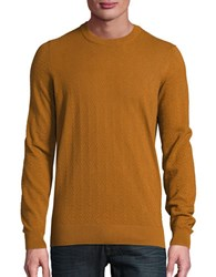 Ben Sherman Textured Crewneck Sweater Matt Gold