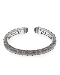 Judith Ripka Narrow Rapture Cuff Bracelet White