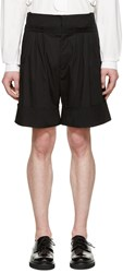 J.W.Anderson Black Pleated Wide Leg Shorts