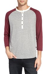 Z.A.K. Brand Men's Colorblock Baseball Henley