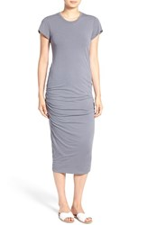 James Perse Women's Ruched Stretch Cotton Midi Dress North