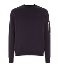 Sandro Enemy Zip Pocket Sweater Male Black