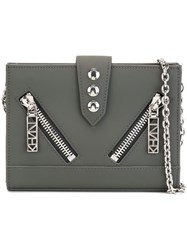 Kenzo 'Kalifornia' Chain Wallet Grey