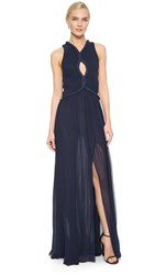 Jay Ahr Sleeveless Gown Navy