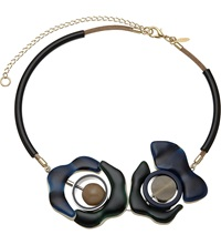 Marni Resin Flower Choker Necklace Ink