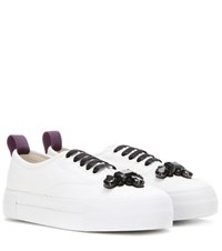Mytheresa.Com Exclusive Mother Carolina Herrera Embellished Canvas Sneakers White