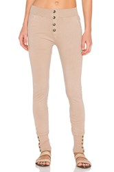 Ragdoll Sweatpant With Brass Buttons Beige