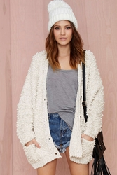 Nasty Gal Boucle All Day Knit Cardigan