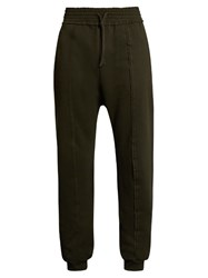 Damir Doma Pascal Extended Seam Cotton Track Pants Dark Green