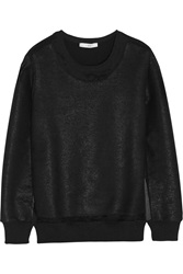 Iro Logan Coated Cotton Blend Terry Sweatshirt