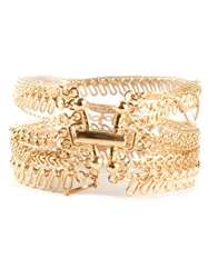 Wouters And Hendrix Mixed Chain Cuff Metallic